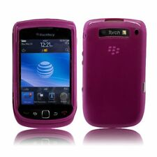 Flexible TPU Gel Case for Blackberry Torch 9800/9810 - Hot Pink