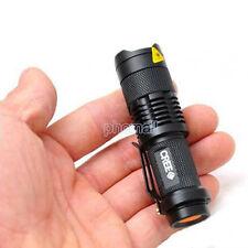 Mini CREE LED Flashlight 7W 2000LM Torch Adjustable Focus Zoom Light Lamp