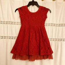 Dress for girls Red Lace, size Small (6)
