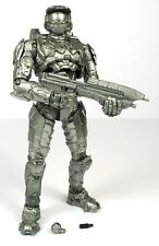 Halo 10th Anniversary Platinum Silver Master Chief Action Figure McFarlane 2011