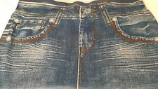 West Loop Woman's  Blue Denim Leggings size Medium / Large New with Tags