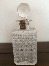 Antique Decanter Crystal & Silver