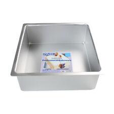 PME nahtlosen Aluminium-Backform quadratisch- extra Hoch 30 x 30 x 10cm