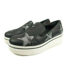 Stella Mccartney Binx Star Slip On Loafer Platform Sneakers Size 9 Black White
