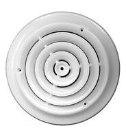 Tru Aire  6 in. H x 1-1/8 in. D Powder Coat  White  Steel  Ceiling Diffuser