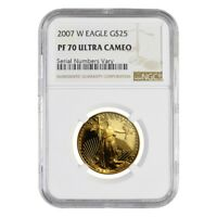 2007 W 1/2 oz $25 Proof Gold American Eagle NGC PF 70 UCAM