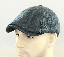 New Auth Ben Sherman Driver Herringbone Wool Duckbill Hat Newsboy Beret Cap Ivy