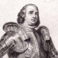 Portrait XIXe Philippe de Crèvecœur Seigneur d'Esquerdes Maréchal Siège Beauvais
