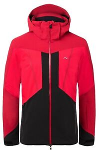 KJUS Men Boval Ski Jacket Men's Red Black Currant Red all Sizes New