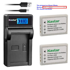 Kastar Battery LCD Charger for Olympus Li-80B & OLYMPUS T-100 T-110 X-36 X-960