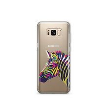 Zebra Samsung Galaxy S8 S9 Plus cubierta transparente animal Samsung 8 9 S10 Plus S10 Note