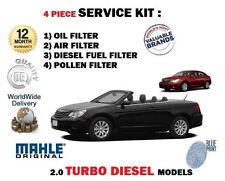 FOR CHRYSLER SEBRING 2.0TD 2007-> SERVICE KIT OIL AIR FUEL POLLEN (4) FILTER SET
