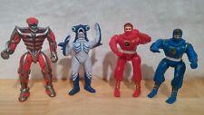 "4 5"" Power Rangers Bandai 2 1995 Blue & Red - 2 1994 Lord Zebb - Slippery Shark"