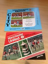 Joblot of 2x 1970's Manchester Utd Home Programmes - See Pictures!!