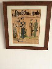 FRAMED 1930S FRENCH FASHION MAGAZINE COVER OAK FRAMED