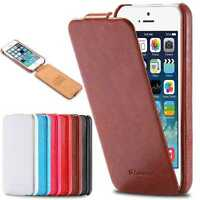 Vintage Handmade PU Leather Case Flip Pouch Hard Slim Holder Cover For iPhone 6+