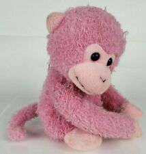 "9"" Pink Monkey Velcro Hands Animal Alley Filled With Love"