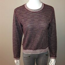 Sweewe Sweater Size S/M Womens Crew Burgundy Stretch Long Sleeve Top Small M
