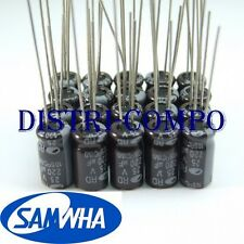 Condensateur 25V 220UF électrolytique radial 8x11.5mm Samwha (lot de 20)
