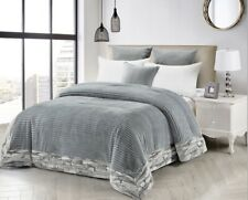 Desert Storm Gray-King Size-1 Piece Comforter-87 X 95-NEW-Suede Backing Faux Fur