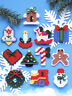 Plastic Canvas Kit ~ Design Works Set of 12 Country Christmas Ornaments #DW1221