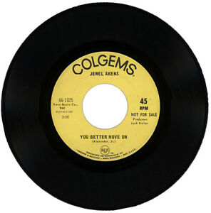 """JEWEL AKENS  """"YOU BETTER MOVE ON c/w IT'S A SIN TO.."""" DEMO 1968 NORTHERN SOUL"""