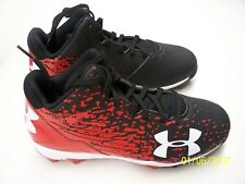 Under Armour Leadoff Low RM Jr Cleats Black+White Size 3.5 Youth  NEW  FREE SHIP