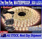 2m, 3m or 5m Waterproof Flexible LED Strip Lights 12V 5050 Warm White 60 Leds/m