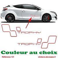 Kit Stickers Trophy - Bas de caisse Clio Rs GT Megane Decals Renault Sport - 131