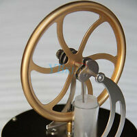 Steel&Glass Low Temperature Stirling Engine Motor Steam Heat Education Model Toy