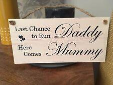 Shabby & Chic Wedding signs Plaques, Gift Present Run Daddy Pageboy Flowergirl