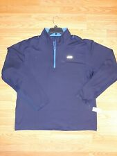 Men's 1/4 Zip Pullover Shirt Brand New with tag Size 2X color Blue Long sleeves