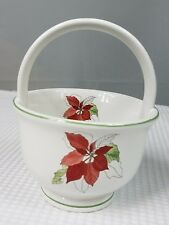Block Bernarda Of Portugal Poinsettia Watercolors Basket By Mary L Goertsan WX06