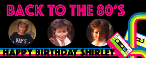 Back to the 80's Personalised Birthday Party Banner Born in the 80's Eighties