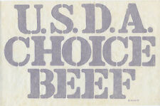 U.S.D.A. Choice Beef - 1970s Iron on Heat Transfer *