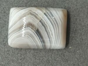 Banded Agate 17.90 TCW Rectangular Cabochon Natural Gemstone