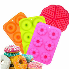 : 6 cavity Silikon Donut Formen Set von 2