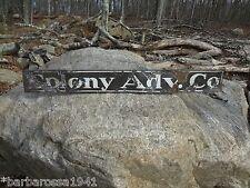 Vintage Original 1900 Porcelain Metal Sign COLONY ADVERTISING CO. Providence RI