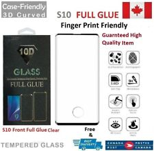 Full Glue For Samsung Galaxy S10 Case Friendly Tempered Glass Screen Protector