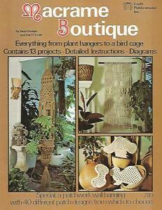 Macrame Boutique Vintage Pattern Instruction Book 1976 Bird Cage Plant Hangers