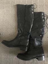 NOVO WOMENS BLACK KNEE-HIGH BOOTS SIZE 8 AUS