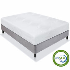 Best Choice Products 10 inch Dual Layered Memory Foam Mattress, Size Queen - White