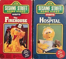 Sesame Street Visits 2 VHS Lot (Hospital, Firehouse)