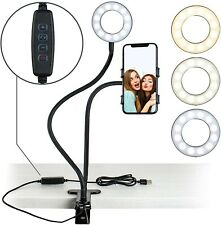 Selfie Ring Light with Cell Phone Holder for Tiktop YouTube Live Stream Make-up