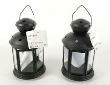 "(Lot of 2) Ikea Rotera Lantern for Tealight, Black Indoor/Outdoor 8 ¼"" New"