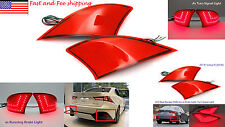 Red Len LED Rear Bumper Reflector Fog Signal Brake Light for 2014+ Lexus IS XE30