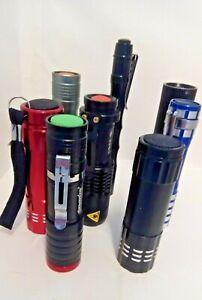 8 Mini Torches Flashlights Camping Fishing Pocket Lights All New UK Stock