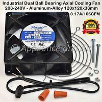 SANJU SJ1238HA2 repl. 120*38 mm 220-240V 0.17A Axial Cooling Fan Metal Frame USA