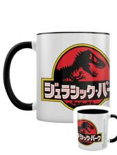 Jurassic Park Mug Japanese Text Black Coloured Inner
