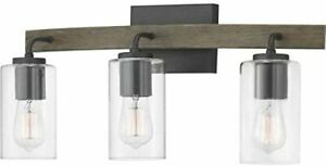 Progress Lighting 1362636 Bradberry Collection Vanity Weathered Oak Accent AS IS